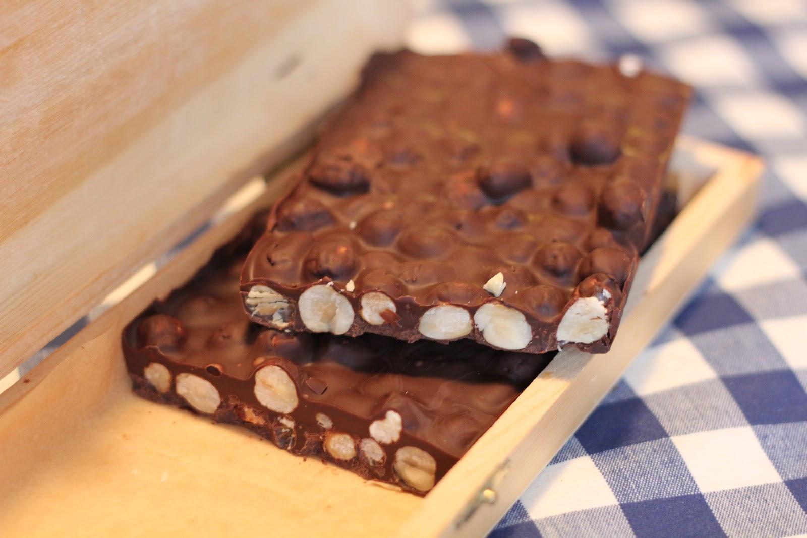 choklad med hasselnötter